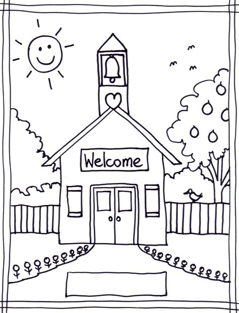school house coloring pages coloring  kids