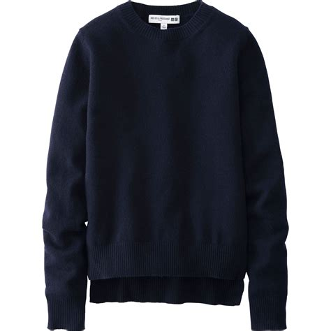 Uniqlo Sweater Navy by Uniqlo Idlf Cropped Sweater In Blue Navy