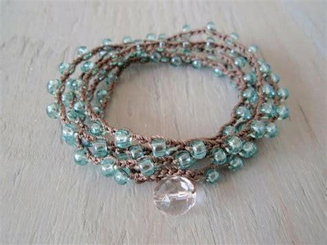 crochet bead bracelet crochet and bead bracelet