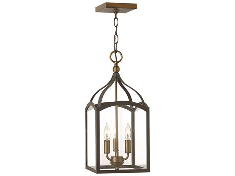 Hinkley Chandelier Hinkley Lighting Clarendon Bronze Three Light Mini Chandelier 3413bz
