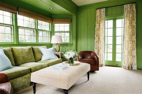 bay window ottoman what color curtains with apple green walls curtain