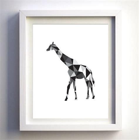 minimalist giraffe tattoo black and white giraffe art print geometric giraffe animal