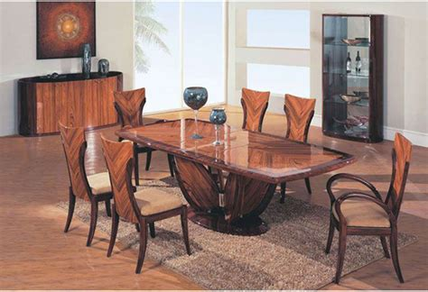 modern wood dining room sets elegant wooden fabric seats modern furniture table set