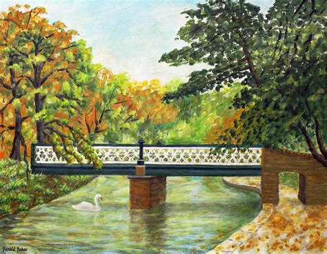 Botanic Gardens Southport Botanic Gardens Churchtown Southport Painting By Ronald Haber