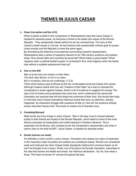 themes julius caesar pdf julius caesar worksheets worksheets kristawiltbank free