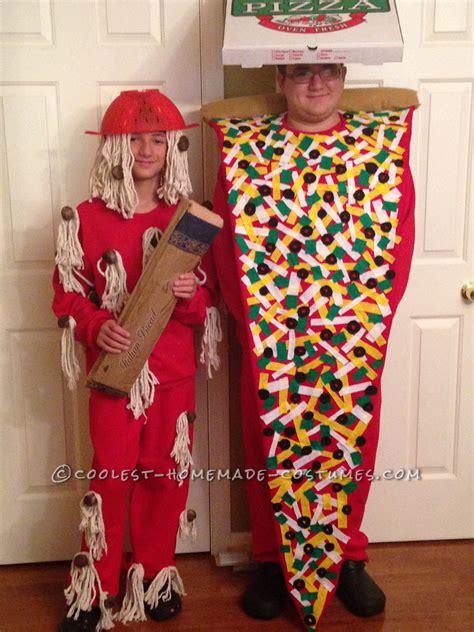 cool pizza  spaghetti costumes  food loving boys