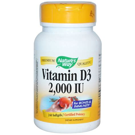 Vitamin D3 nature s way vitamin d3 2 000 iu 240 softgels iherb