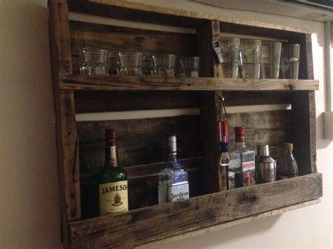 Bar Shelfs by Pallet Bar Shelf By Jim B Lumberjocks