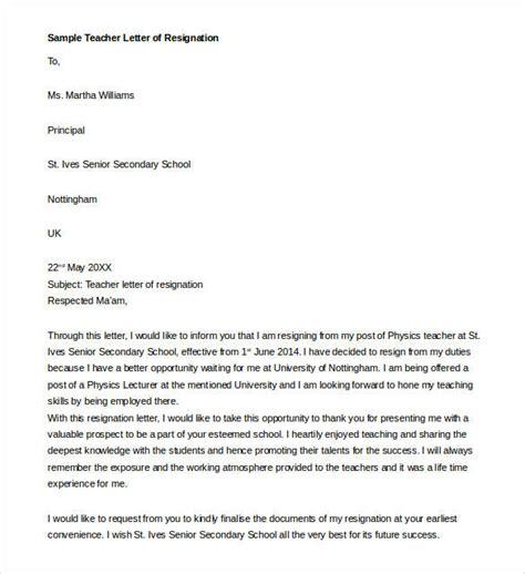 model for resignation letter resignation letter template 17 free sle