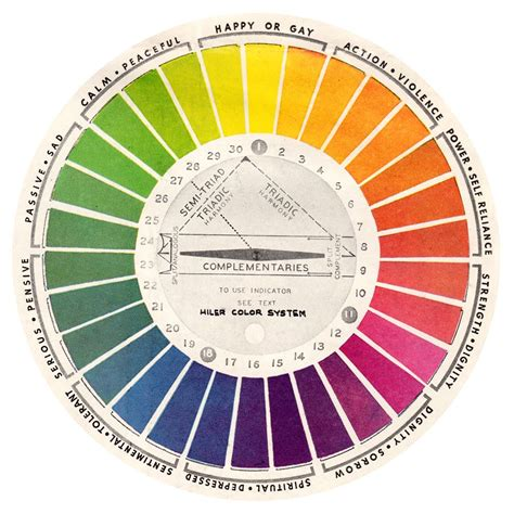 color wheel chart free vintage color wheels charts on my for