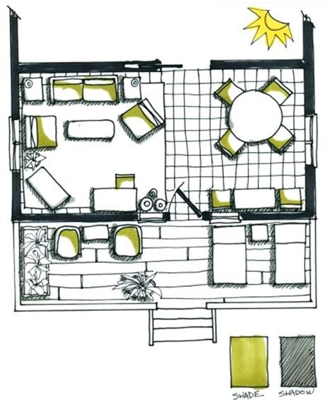 floor plan rendering techniques marker rendered floor plan markers shadows and shades
