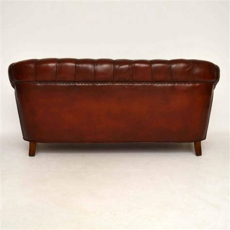 antique leather sofas antique swedish leather chesterfield sofa for sale at 1stdibs