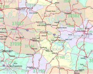 Tn Zip Code Map by Tennessee Zip Code Map