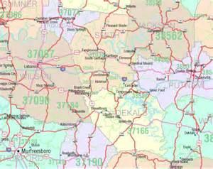 Tennessee Zip Code Map by Tennessee Zip Code Map