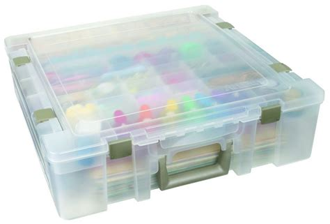 Divided Storage Box artbin 6982ab satchel deluxe divided base lid