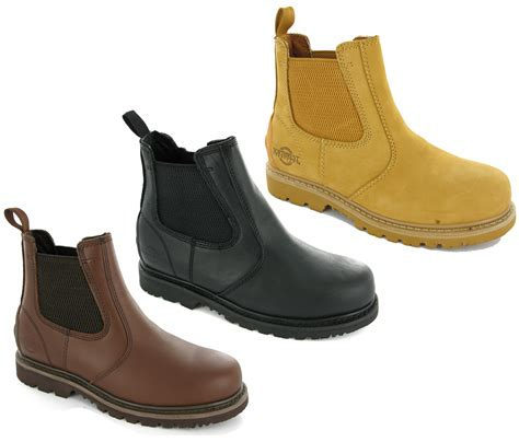 mens work boots uk new mens leather goodyear welted northwest safety dealer