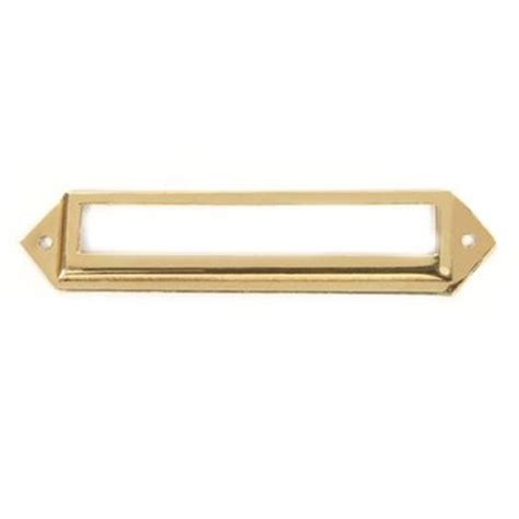 Brass Label Holders For Drawers by Restorers Polished Brass Label Holder