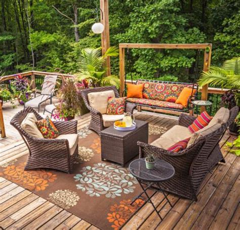 Patio Design Ideas On A Budget Lighting Furniture Design 30 Ideas To Dress Up Your Deck Midwest Living