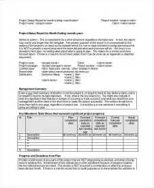 How To Write A Monthly Report Template Project Status Report Template 9 Free Word Pdf