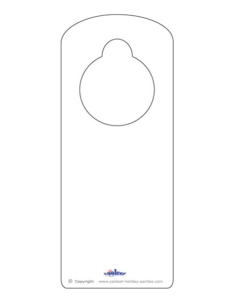door knob template blank printable doorknob hanger template clipart best