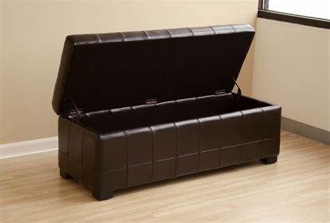 black leather storage cube leather storage ottoman image of four sectioned black