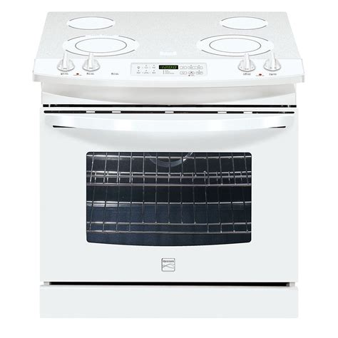 white electric range kenmore 45592 30 quot self clean drop in electric range