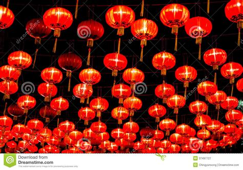 during new year lanterns during new year festival royalty free