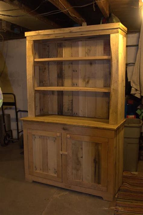 Kitchen Furniture Hutch Pallet Wood Kitchen Hutch 101 Pallets