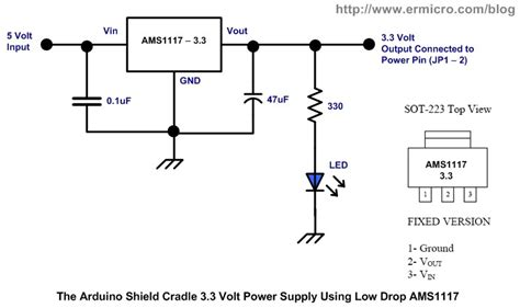 10x Ams 1117 5 0 Regulator 5 Volt ams1117 3 3 from 5vdc show 0 09vdc all about circuits