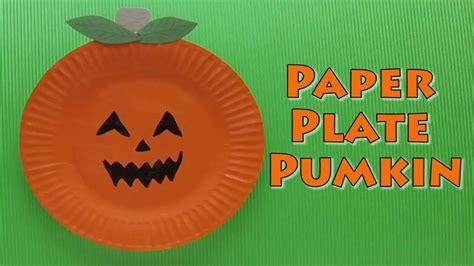 paper plate pumpkin craft craft paper plate pumpkin paper plate craft