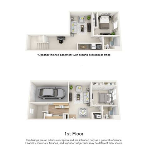 1 bedroom townhome rates floor plans townhomes on blackhawk landing