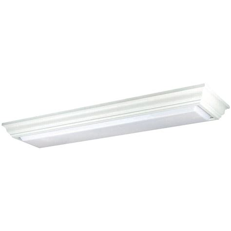Overhead Fluorescent Light Fixtures Yosemite Home Decor Fluorescent Lighting Series 2 Light White Overhead Flushmount Ft2005 The