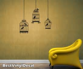 bird cage wall decals with birds vinyl stickers art graphics nature decal branch sticker