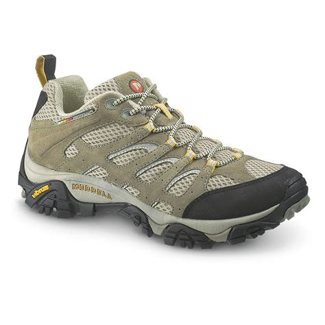 s merrell hiking boots s merrell 174 moab ventilator low hiking shoes taupe