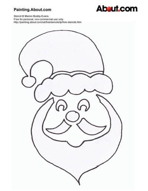 printable stencils christmas santa stencil crafty christmas pinterest