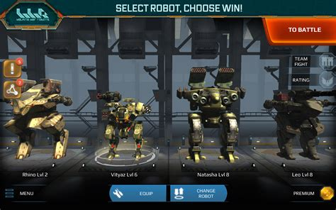 game membuat robot online walking war robots android apps on google play