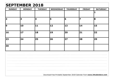 printable calendar sept 2018 september 2018 calendar printable