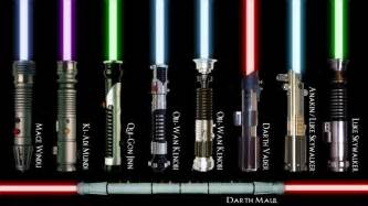 why are lightsabers different colors what color lightsaber would you wield just for