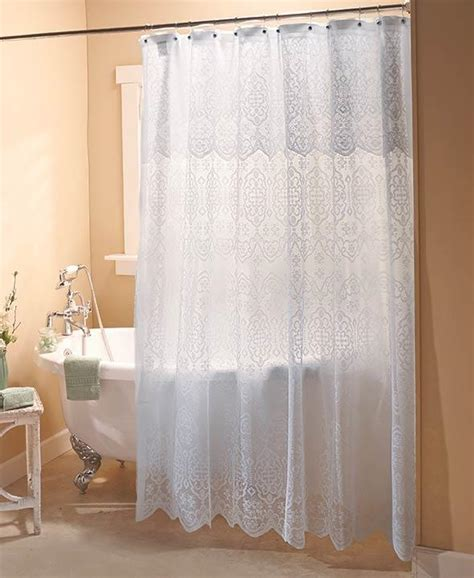 elegant bathroom curtains new elegant lace shower curtain with liner white or ivory