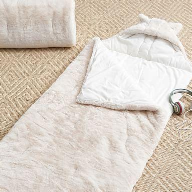 Sleeping Bag Polar Tebal Dacron faux fur sleeping bag w polar pbteen
