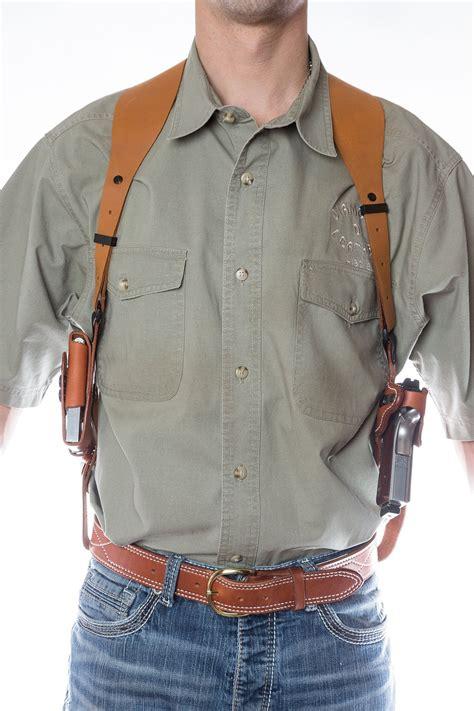 Leather Shoulder Holster, the Simple Shoulder Holster (SSR)   Diamond D Custom Leather