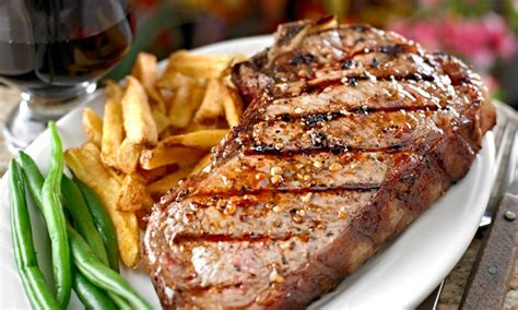 Le Boeuf Grillé by Two Course Steak Meal With Wine The Drum Monkey Groupon