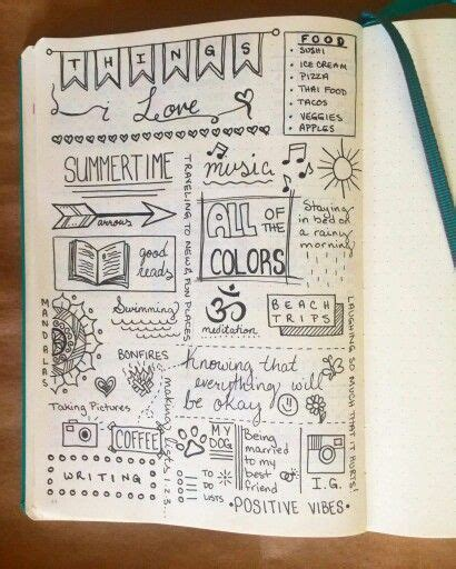 doodle journaling ideas bullet journal bring mindfulness into your daily