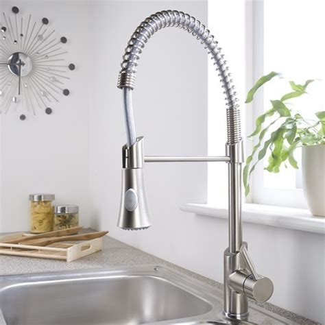 brushed nickel plated pull sprayer kitchen faucet contemporary kitchen faucets