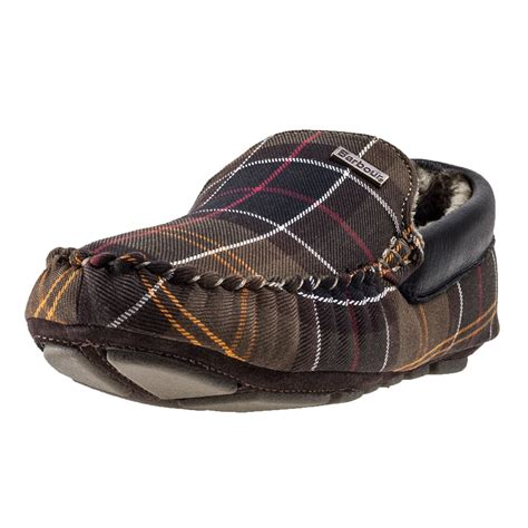barbour mens slippers barbour monty classic mens slippers in tartan