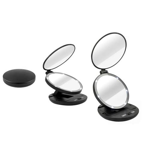 where can i find a lighted makeup mirror sided 1x 5x magnifying travel makeup mirror with