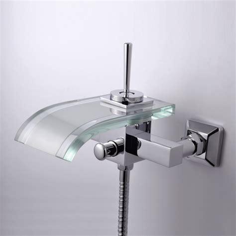 glass bathtub for sale single handle waterfall wall mount chrome glass bathtub