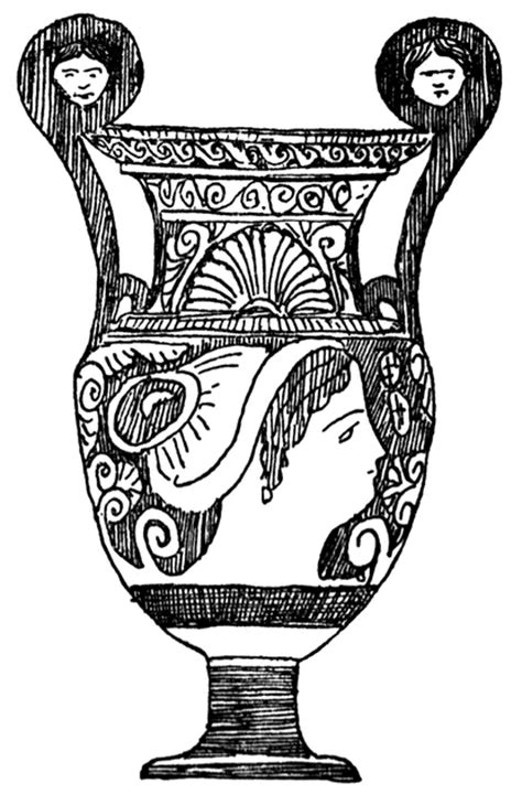 Ancient Vase Shapes by Free Coloring Pages Of Ancient Vase