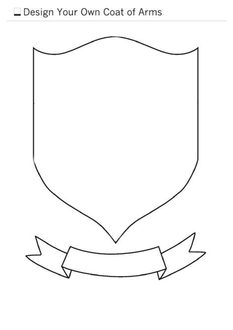 design   coat  arms template printable