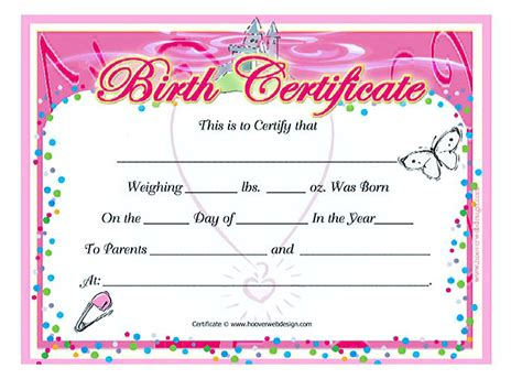cute birth certificate template www pixshark com